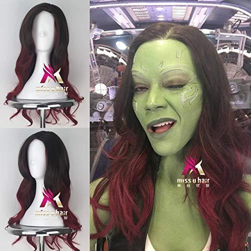 Wächter der Galaxie 2 Gamora Cosplay Perücke Frauen Long Wavy Movie Anime HaareCosplay Halloween Perücke One Size Gamora
