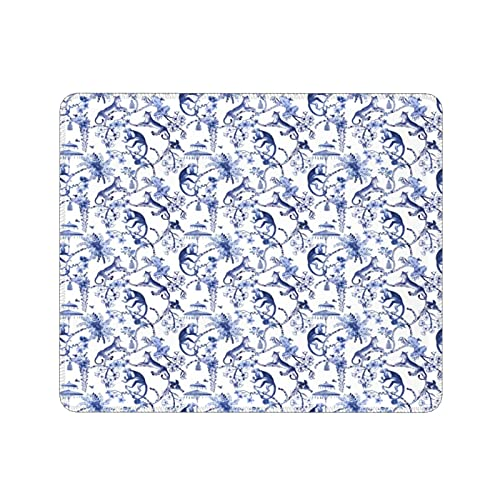 Mini Alfombrilla de Ratón,Fantasia cineserie BLU e Bianco,tappetini per Mouse lavabili,comodi tappetini per Mouse,tappetino per Mouse da ufficio (11,8X9,8 pollici)