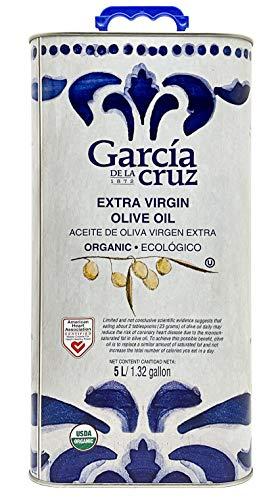García de la Cruz - Bio-Olivenöl extra vergine, reif geerntet - 5 l Dose