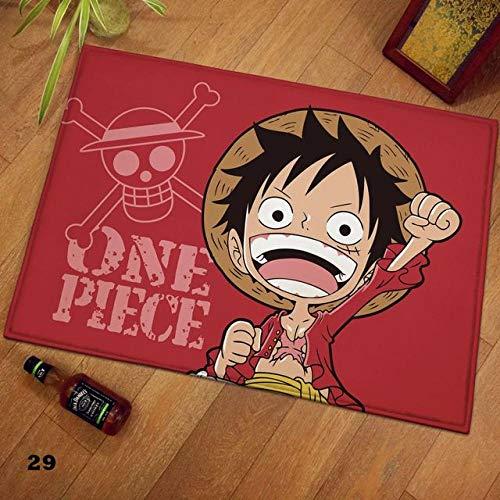 TAPESTRYDA Felpudo One Piece 3D Anime Área de Dibujos Animados Alfombra Naruto Alfombras Alfombra Alfombra Antideslizante Alfombrillas para Sala de Estar Dormitorio-Z_60*90