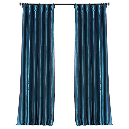 HPD Half Price Drapes PTCH-BO003-96 Blackout Faux Silk Taffeta Curtain (1 Panel), 50 X 96, Meditteranean