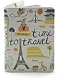 Porta passaporto curioso fatto a mano - Portafoglio da viaggio in pelle, Mappa vintage. (Multicolore) - 43229-80095