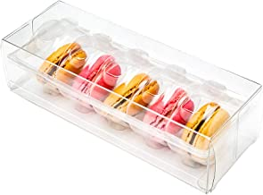 """Restaurantware RWP0391C Sweet Vision Clear Plastic French Fits 5 Macarons 7 1/2"""" x 2 1/2"""" x 2"""" 100 Count Box, 7.5''L x 2.6''W x 2.0''H,"""