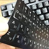 LUGEUK Etiquetas engomadas Coreanas del Teclado Membranas del Teclado Ordenadores portátiles Etiquetas engomadas de la Letra de la Tabla de la raíz Universal