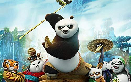 Slbtr - 1000 Piezas Puzzle - Kung Fu Panda - Rompecabezas para Niños Adultos Juego Creativo Rompecabezas Navidad Decoración del Hogar Regalo