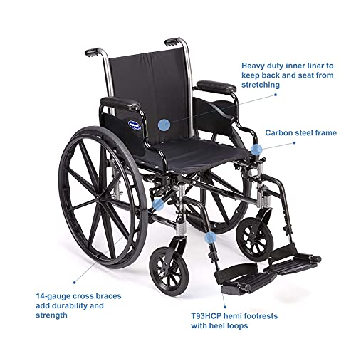 Invacare Tracer SX5 Wheelchair for Adults | Everyday Folding | 16 Inch Seat | Footrests & Desk Arms