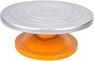 Silver Model-Making Turntable Round Sculpting Wheel Sculpting Wheel, Model-Making Machine, Heavy Duty for Artistic Work Pa...