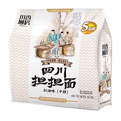 川香厨房四川担担面 ?油味 インスタント麺 重?小面 5食