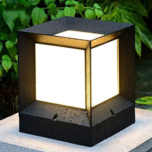 J-Réverbères Pilier Lampe jardin Outdoor lumière paysage étanche colonne lumières LED Antirouille Patio Place Porche Décoration pilier d'éclairage Réverbère Post Lumière (Size : Small)