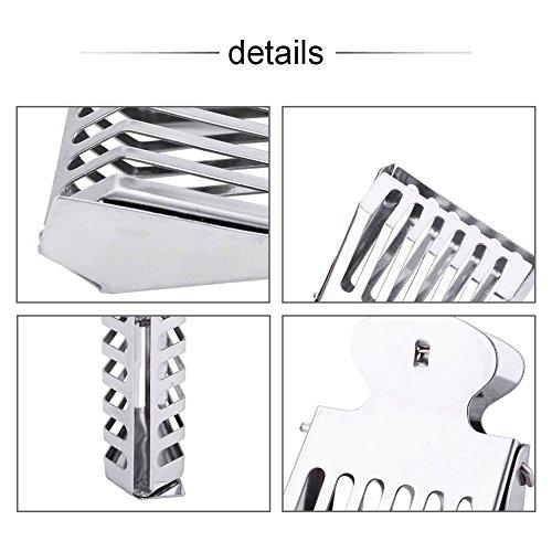 Herramienta de Captura de la Jaula de Clip, colchón de Acero Inoxidable Cage 5 x 1.8 x 7 cm Herramienta de Clip de Metal