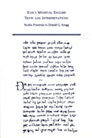 Early Medieval English Texts and Interpretations: Studies Presented to Donald G. Scragg (MEDIEVAL AND RENAISSANCE TEXTS AND STUDIES)