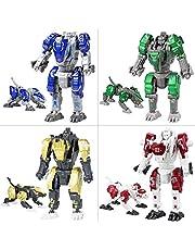Sanggi Transformable Deluxe Robot, 2 in 1 Leone/Leopardo Robot in Lega Giocattoli, Adatto a Bambini di età Superiore ai 3 Anni