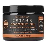SUNAROMA Organic Coconut Oil Hair Pomade, 5.5 oz.