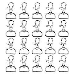 20 Stück Karabinerhaken Schlüsselanhänger Drehverschlüsse