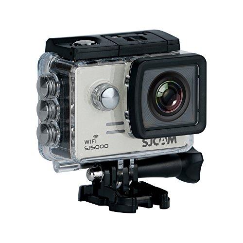 SJCAM SJ-5000-WIFI SJ5000 Deutsche Version wasserdichte Sport Actionkamera (5,08 cm (2 Zoll), FHD, 1080p, 30m, 14MP, 16 Zubehörteile) Silber