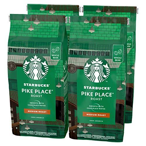 Starbucks Pike Place Café De Grano Entero De Tostado Medio (4 Bolsa de 450g)