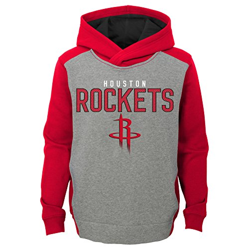 NBA Kids & Youth Boys 'Fadeaway' Pullover Hoodie Houston Rockets-Grey Heather-M(5-6)