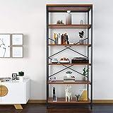 Himimi Estante para Libros Librería Estilo Industrial de 5 niveles estantería...