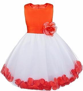 2b9a5097684 Girl Flowers Petal Sleeveless Wedding Formal Dress Kid Princess Bridesmaid  Christening Party Dresses 2-14