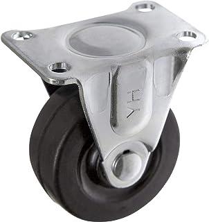 TOOLCRAFT TO-5137890 Bokrol rubber 50 mm met schroefplaat