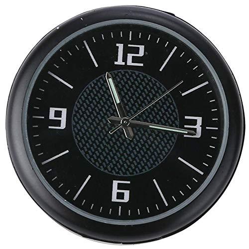 TRUUA Auto Uhr Armaturenbrett Entlüfterelement Tisch, Classic Car Ornaments Zubehör Auto Kleine runde Quarz-Uhr, Schwarz