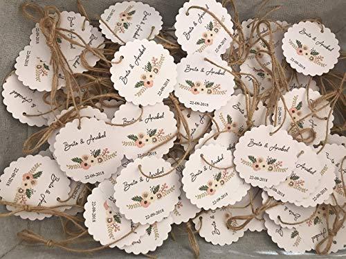 ETIQUETAS para tus regalos de boda. 100 unidades