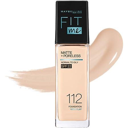 MAYBELLINE(メイベリン) フィットミー リキッド ファンデーション R 112 明るい肌色(イエロー系) 30ミリリットル (x 1)