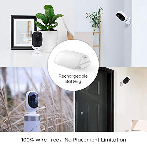 Reolink Argus 2 - Outdoor Wireless Home Security Camera, Solar-Powered Rechargeable Battery, 1080p Full HD, Wire-Free 2-Way Audio, Starlight Night Vision with PIR Motion Sensor and Built-in SD Socket
