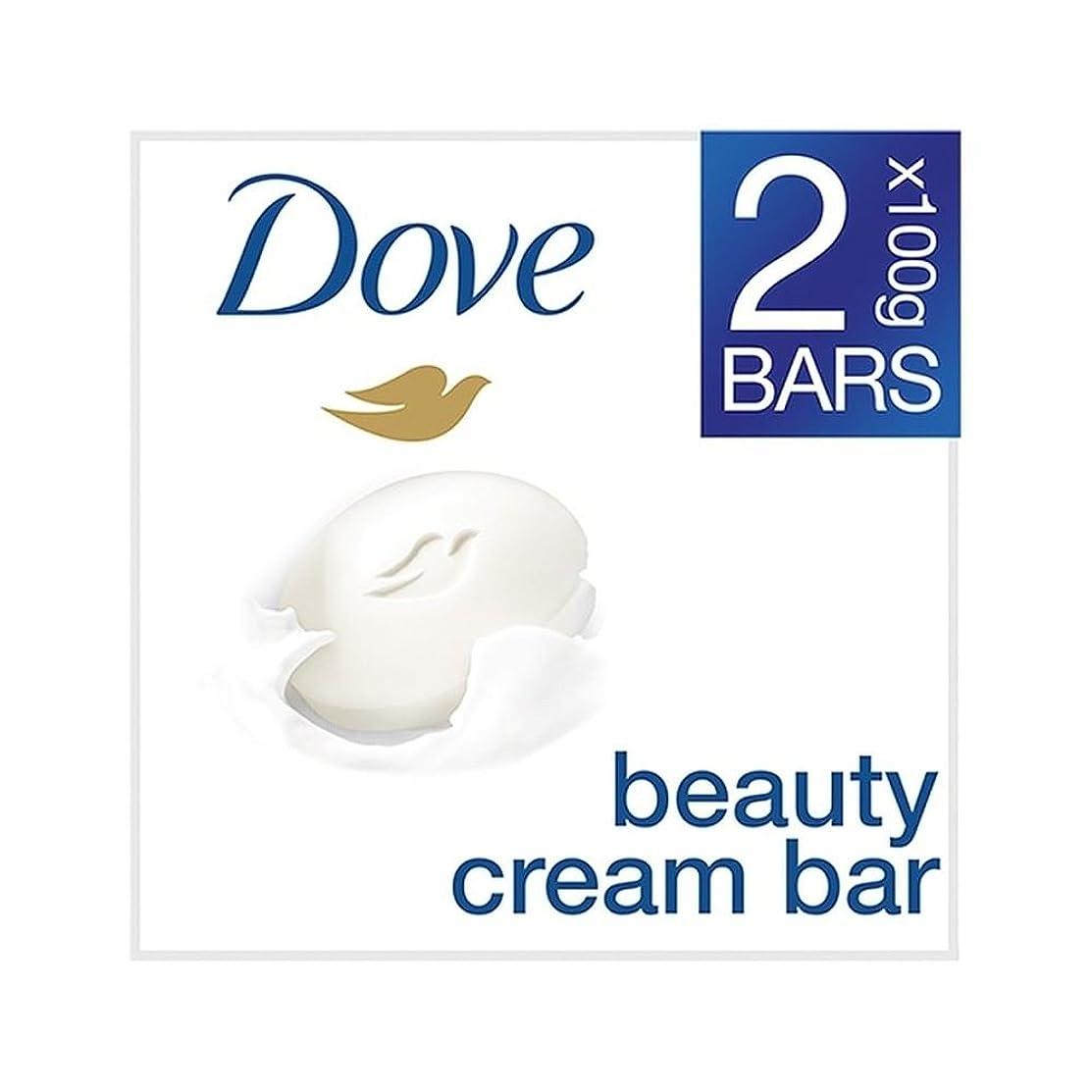 くつろぎ若者窓を洗う[Dove ] 鳩の美容クリームバーオリジナルの2×100グラム - Dove Beauty Cream Bar Original 2 x 100g [並行輸入品]