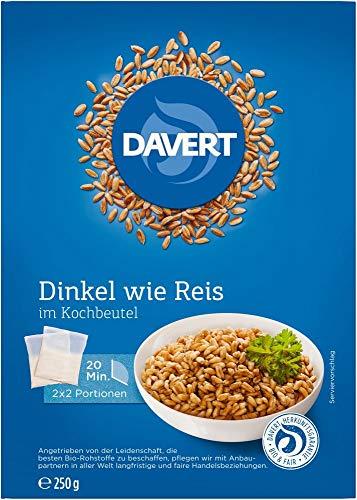 Davert Bio Zart-Dinkel im Kochbeutel (6 x 250 gr)