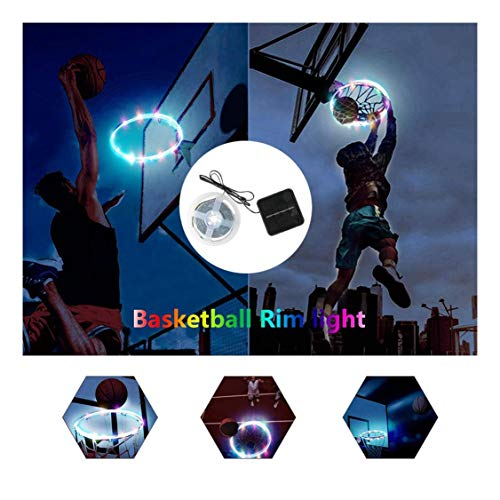 Fantastic Prices! Chezaa LED Basketball Hoop Lights Rim Solar Strip Lights Full Size Super Bright to...