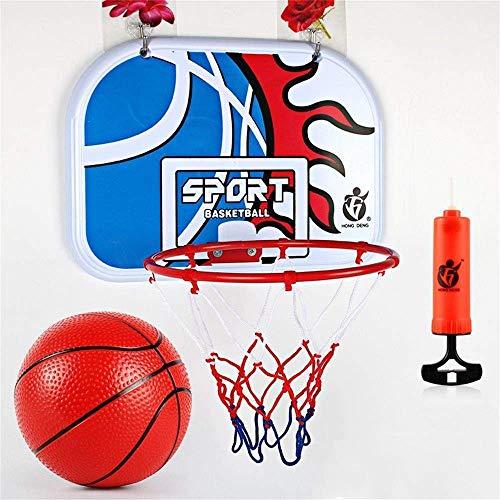 LQH Mini-Wand Basketball Backboard Rim Tor Wand- Indoor Spielzeug Kinder Jugend mit Ball und Pump Sport Spielzeug 34X25Cm Netter