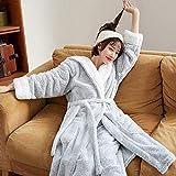 STJDM Bata de Noche,Pijamas Mujer Ropa de Dormir de Invierno Engrosamiento cálido Vestido de Noche de Franela...