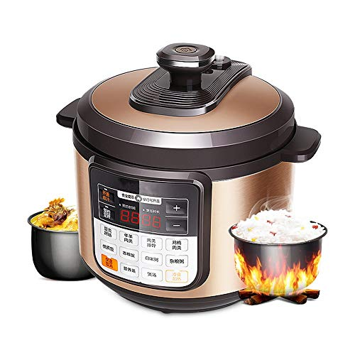 YFGQBCP Robot Cocina Olla de presión eléctrica de 6 litros del hogar Inteligente Caldera Doble Olla de presión, Olla de arroz, protección múltiple, Split Cubierta, Sello extraíble