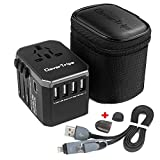 CleverTrips Universal Travel Power Adapter All in One Worldwide International Wall Charger AC Plug Adaptor...