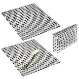 mDesign Set 3 Tappetini lavello in plastica – Accessori cucina per proteggere il lavandino da graffi, per posate o stoviglie – Tappetini lavandino cucina, protezione separatore vasche – grigio
