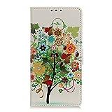 TYWZ Portafoglio Cover per Xiaomi Mi 10T,Creativo Motivo Custodia Libro Chiusura Magnetica Flip Case Pelle PU con Supporto di Stand Carte Slot-Fruit Tree