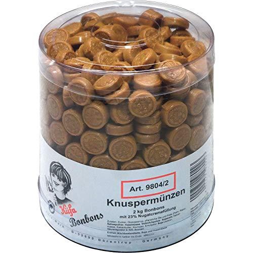 2kg Küfa Knuspermünzen Bonbons mit 23% Nougatcremefüllung Orginal