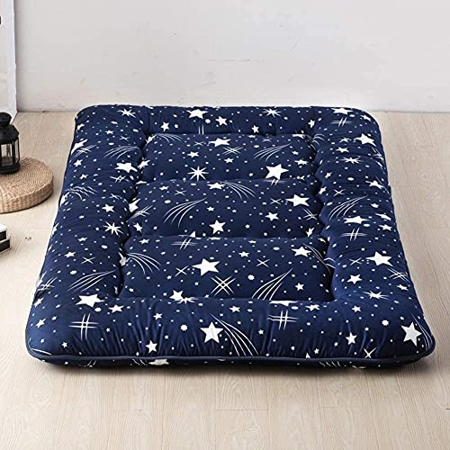 Colchón de futón, plegable y grueso, colchón tradicional japonés, acolchado de tatami, acolchado y mullido, sobrecargado, piso de tatami portátil (tamaño: 135 x 200 cm), color: D)