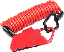 SOBW Universele anti-diefstal MTB-fietshelm-kabelsloten, draagbaar, intrekbare veiligheidswire-vergrendeling, accessoire