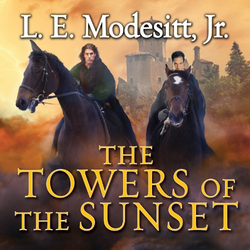 The Towers of the Sunset     Saga of Recluce, Book 2              By:                                                                                                                                 L. E. Modesitt Jr.                               Narrated by:                                                                                                                                 Kirby Heyborne                      Length: 18 hrs and 20 mins     34 ratings     Overall 4.3