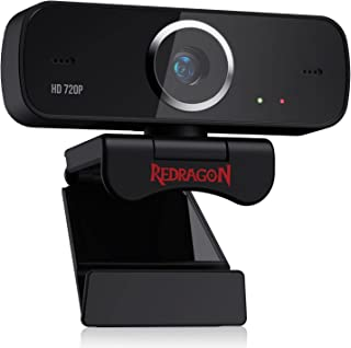 Redragon GW600 FOBOS [720P] Webcam with Built-in Dual Microphone 360-Degree Rotation - 2.0 USB Skype Computer Web Camera