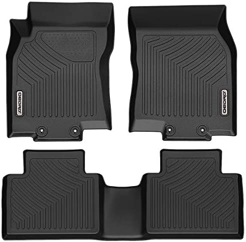 OEDRO Floor Mats Compatible for 2014 2020 Nissan Rogue Unique Black TPE All Weather Guard Includes product image