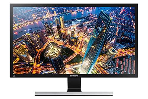 "Samsung Monitor HRM UE590 (U28E570), Flat, 28"", 3840x2160 (UHD 4K), Pannello TN, 60 Hz, 1 ms, FreeSync, HDMI, Display Port, Ingresso Audio, PIP PBP, Eye Saver Mode, Flicker Free, Eco Saving Plus, Nero"
