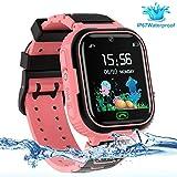 LDB Smartwatch Bambini Telefono, Impermeabile Orologio Intelligente GPS/LBS Tracker Localizzatore di Posizione Chiamata Vocale SOS Allarme Anti Smarrimento Gioco Matematico