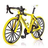 Modelo De Bicicleta Mini, Modelo De Bicicleta Mini, Bicicleta De Dedo Para Colecciones, Plegable Resistente Al Desgaste, Adorno De Bicicleta De Aleación, Decoración De Simulación De Bicicleta