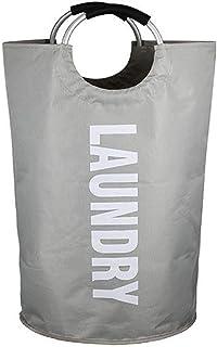 Laundry Basket سلة غسيل Foldable Washing Laundry Hamper Light Grey Clothes Baskets 72 x 38 Centimeter