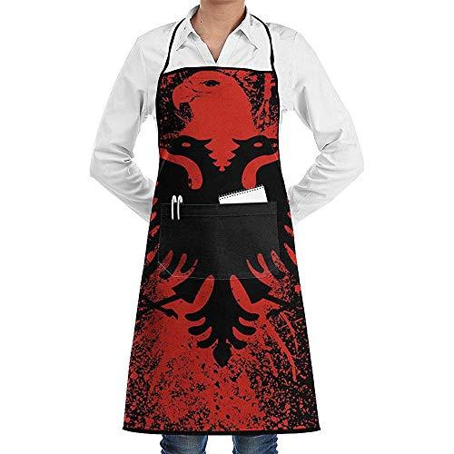 Katrine Store Albanische Flagge des Adlers Vogel Fraktion Küche Kochen Garten Schürze Verstellbare Tasche Wasserdichte Chef Schürzen