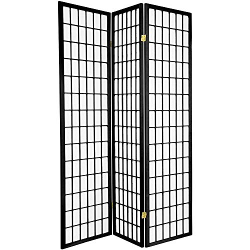 3 - 4 - 6 - 8 Panels Room Divider Screen Partition Black Cherry Natural Espresso or White Shoji...