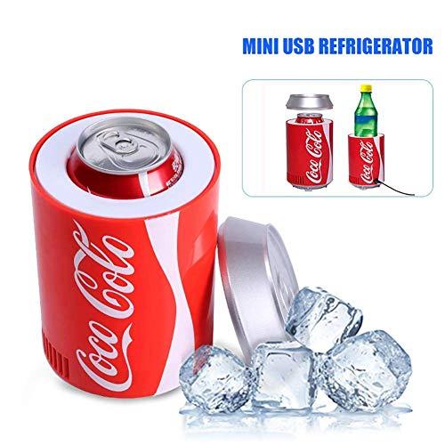 Mini USB frigorífico Nevera portátil para Coche, Coca-Cola Bebe Cooler, Desktop Beer Freezer Depósito de refrigeración para Oficina Viajes Picnic Boat